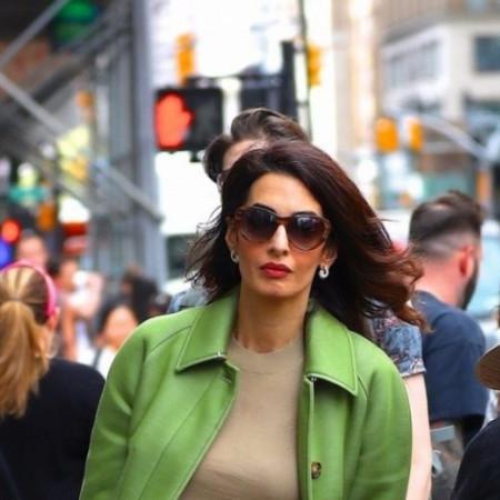 Amal Kluni je kraljica stila: Mint zelena, za tmurne jesenje dane (foto)