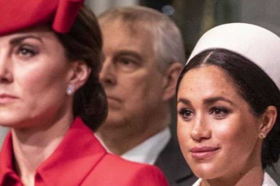 Belo VS crveno: Megan u kreaciji Viktorije Bekam zasenila jetrvu Kejt (foto)