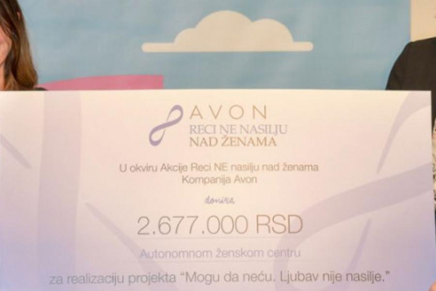 Kompanija Avon uručila je vrednu donaciju Autonomnom ženskom centru: Znanjem i osnaživanjem u borbi protiv nasilja nad ženama