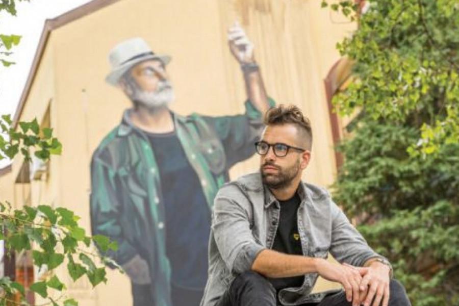 Andrej Josifovski krenuo je težim putem: Džinovskim muralima podiže svest Beograđana!