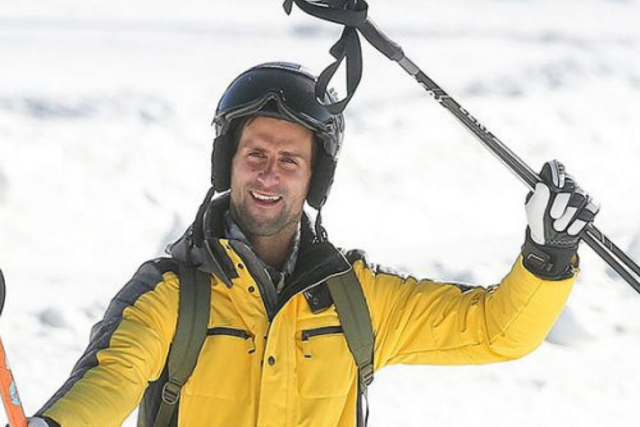 Đoković kao učitelj skijanja