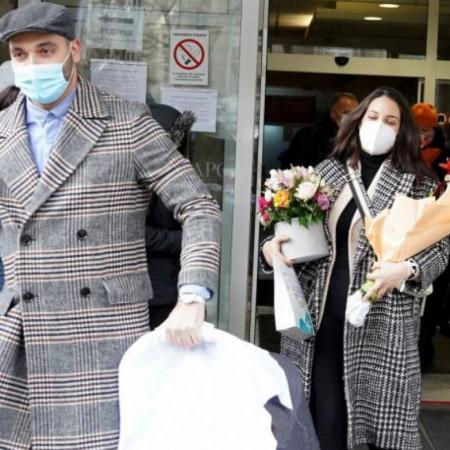 Povratak kući - Marina Ćosić sa ćerkom Sofijom izašla iz porodilišta
