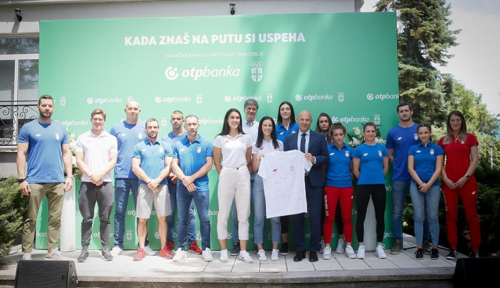 Zajednički događaj OTP banke i Olimpijskog komiteta Srbije - Najveže okupljanje olimpijaca pre odlaska u Tokio