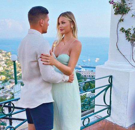 Ljubav u belom: Luka Jović i Sofija Milošević javno pokazali emocije